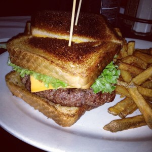 grilled cheese cheeseburger
